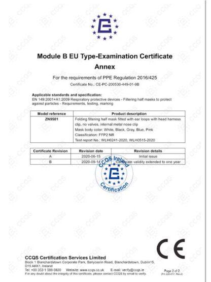 certificato FFP2 a 5 strati
